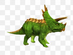 Green Triangle Dinosaur - Triceratops Animation Wavefront .obj File 3D Computer Graphics Dinosaur PNG