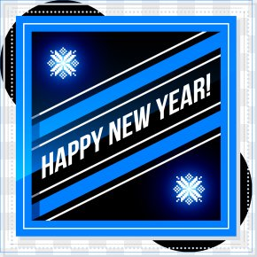 Happy New Year Card - New Years Day New Year Card Blue PNG
