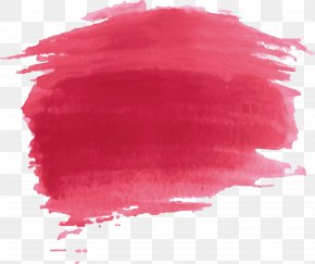 Red Watercolor Paint Effect - Watercolor Painting Red PNG