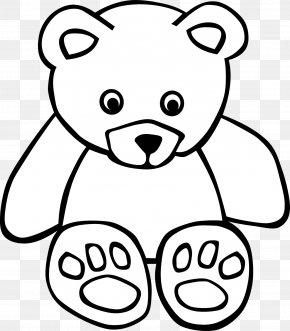 Black And White Free Clipart - American Black Bear Polar Bear Giant Panda Clip Art PNG