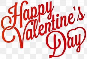 Red Happy Valentine's Day PNG Clip-Art Image - Valentine's Day Heart Clip Art PNG