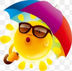 Cute Cartoon Sun Design Vector Material - Cartoon Stock Photography Umbrella Clip Art PNG