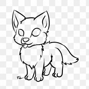 Picture Of Pup - Dog Puppy Baby Wolf Baby Wolves Drawing PNG