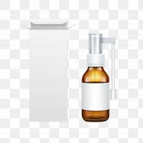 Pharmaceutical Packaging Design - Spray Bottle Medicine Glass PNG