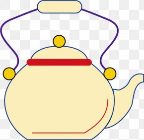Cartoon Vector Yellow Kettle - Teapot Kettle Clip Art PNG