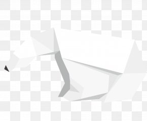 White Origami Bear - White Triangle Area Pattern PNG