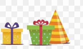 Colorful Birthday Gift Boxes - Gift Birthday Box PNG
