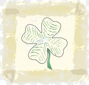 Cloverleaves Background - Four-leaf Clover Saint Patrick's Day Clip Art PNG