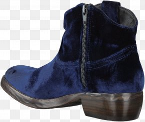 Boot - Suede Blue Botina Shoe Boot PNG