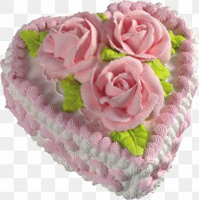White Heart Cake With Pink Roses Picture Clipart - Torte Wedding Cake Chocolate Cake PNG