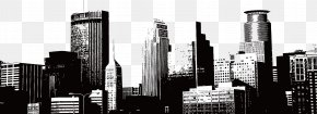 Vector Hand-painted City - City Silhouette Skyline Illustration PNG