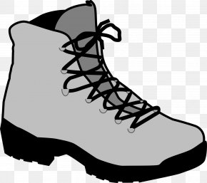 Gray Mountain Boots - Hiking Boot Shoe Clip Art PNG