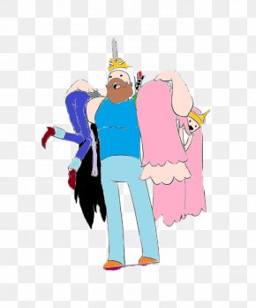 Finn The Human - Finn The Human Princess Bubblegum Marceline The Vampire Queen Fan Art PNG
