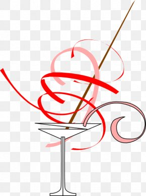 Cartoon Martini Glass - Martini Cocktail Glass Candy Cane Clip Art PNG