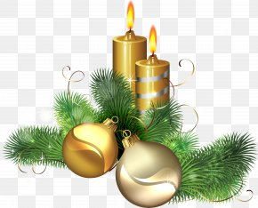 Christmas Candle Image - Christmas Candle Icon Clip Art PNG