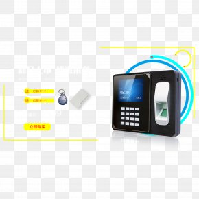 Fingerprint Recognition Punch Card Attendance Management - Fingerprint Time Clock Attendance Management PNG
