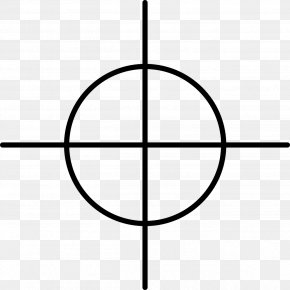 Crosshair - Reticle Telescopic Sight Clip Art PNG