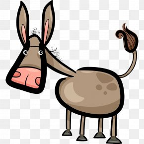 Hand Painted Donkey Color - Cartoon Humour Doodle Illustration PNG
