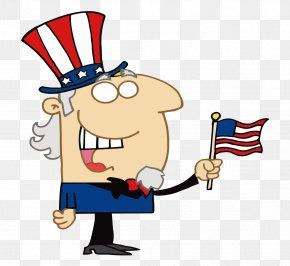 Cartoon Painted Older Americans Get An American Flag - United States Uncle Sam Royalty-free Clip Art PNG