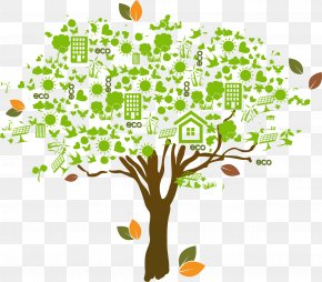 Vector Eco-friendly Tree - Euclidean Vector Tree Computer File PNG