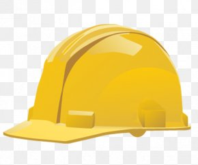Yellow Background - Hard Hats Clip Art PNG