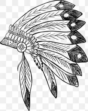 Feather Drawing Coloring - War Bonnet Clip Art American Indian Wars Indigenous Peoples Of The Americas PNG