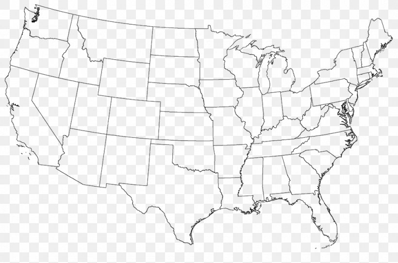 Contiguous United States Hawaii Blank Map Road Map Png 1000x662px Contiguous United States Area Artwork Black