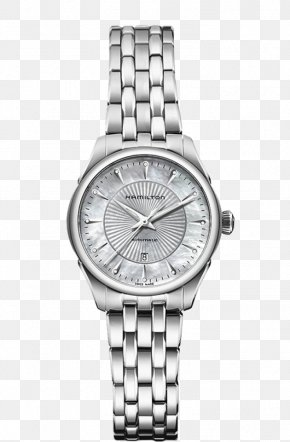 Hamilton Watch Silver Diamond Watches Female Form - Hamilton Watch Company Automatic Watch Chronograph Woman PNG