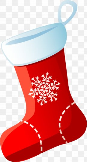 Christmas Red Socks - Christmas Stocking Sock PNG