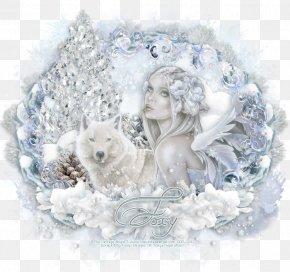 Fantasy Winter Background - Desktop Wallpaper Picture Frames Figurine Freezing Winter PNG