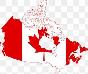 Canada Cliparts - Flag Of Canada Map Clip Art PNG