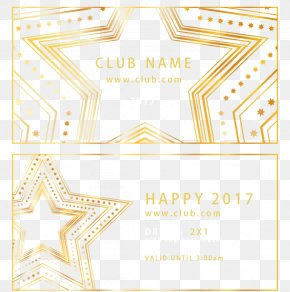 Gold Club Invitation - Euclidean Vector New Year Gold Download PNG