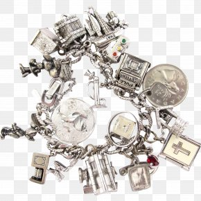 Jewellery - Jewellery Silver Charm Bracelet Metal Clothing Accessories PNG