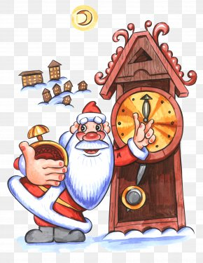 Midnight - Ded Moroz Santa Claus Christmas Ornament New Year PNG