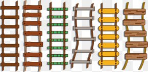 Rope Ladder Rope Ladder - Rope Ladder Stairs Repstege PNG