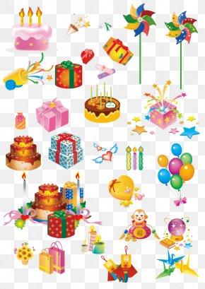 Birthday Present - Birthday Cake Gift Clip Art PNG