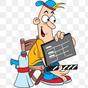 Cartoon Man Holding Log Card - Film Director Royalty-free Clip Art PNG