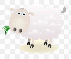 Sheep - Sheep Cattle Goat Cartoon Drawing PNG