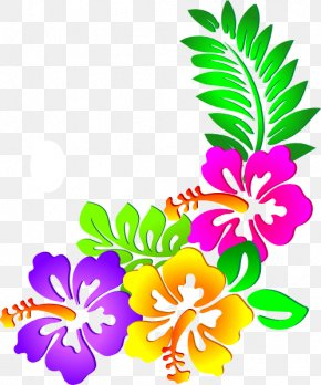 Hawaiian Luau - Floral Design Flower Sticker Clip Art PNG