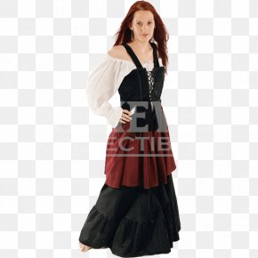 Dress - Middle Ages Costume Serfdom Clothing Skirt PNG