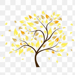 Autumn Leaves - Tree Autumn Clip Art PNG