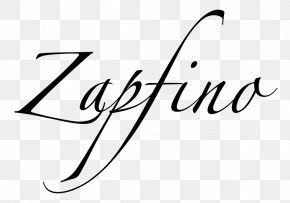 Creative Biographical Material Download - Zapfino Script Typeface Calligraphy Font PNG