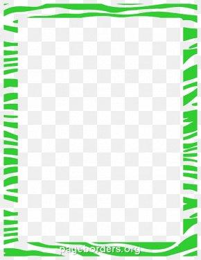 Lime Border Frame Transparent - Paper Zebra Tiger Clip Art PNG
