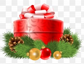 Transparent Christmas Red Gift Decor Clipart - Christmas Gift Christmas Gift Christmas Card PNG