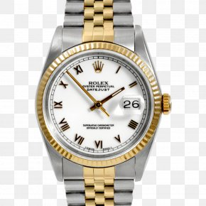 Disabled Person - Rolex Datejust Automatic Watch Gold PNG