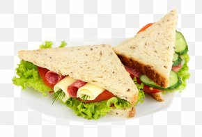Delicious Vegetables Ham Sandwiches - Hamburger Ham Sandwich Chicken Sandwich Jam Sandwich PNG