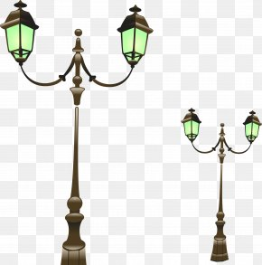 Vector Hand-painted Street Light - Street Light Lighting PNG