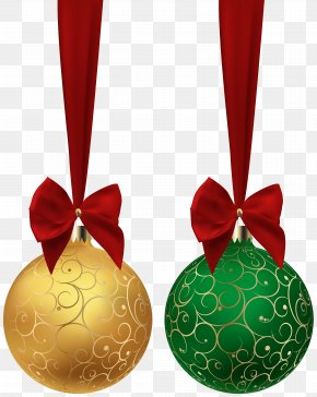 Christmas Balls Yellow Green Clip Art Image - Christmas Ornament Clip Art PNG