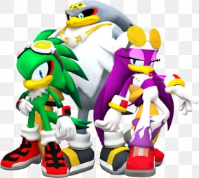 Team - Sonic Riders Knuckles' Chaotix Sonic The Hedgehog Espio The Chameleon Vector The Crocodile PNG