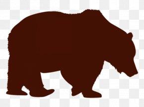 Sloth Bear Silhouette - Brown Bear Bear Grizzly Bear Animal Figure American Black Bear PNG